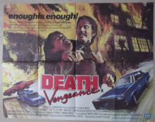 Death Vengeance, Original UK Quad Poster, Tom Skerritt, Patti LuPone '82